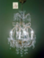 lustre cage pampille