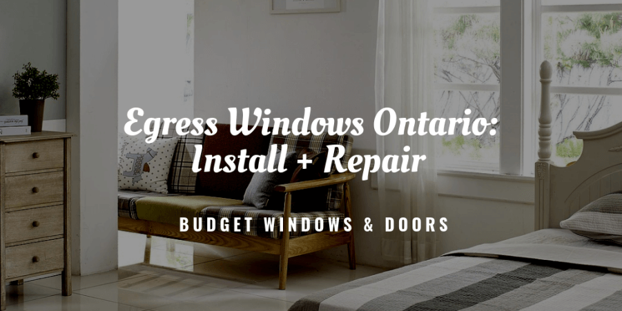 egress windows ontario