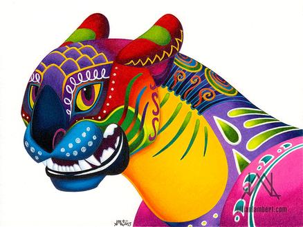 Oaxacan Big Cat Mini-Bust