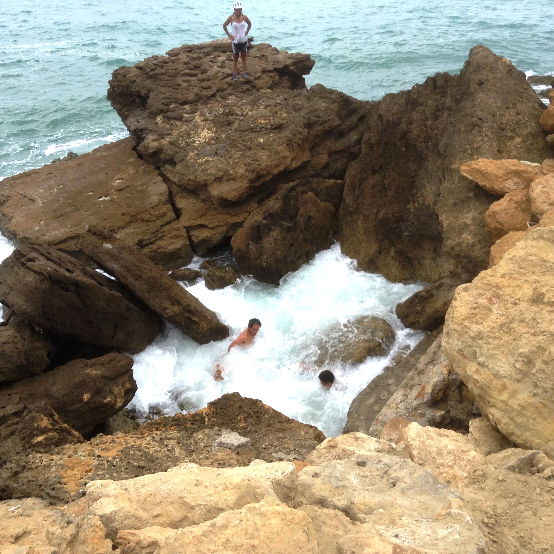Jacuzzi en el mar