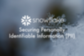 Snowflake and PII Data Blog Header Pictu