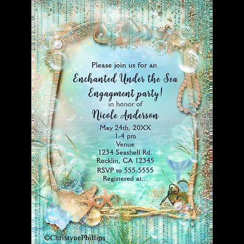 Elegant Enchanted Under the Sea Elegant Beach Invitations