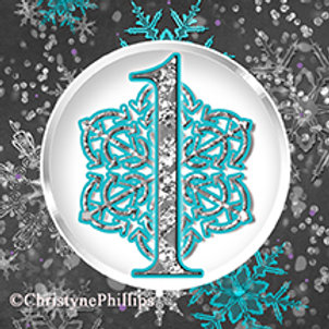 Winter Onederland 1st Birthday One Chalk Purple & Teal Cupcake Toppers