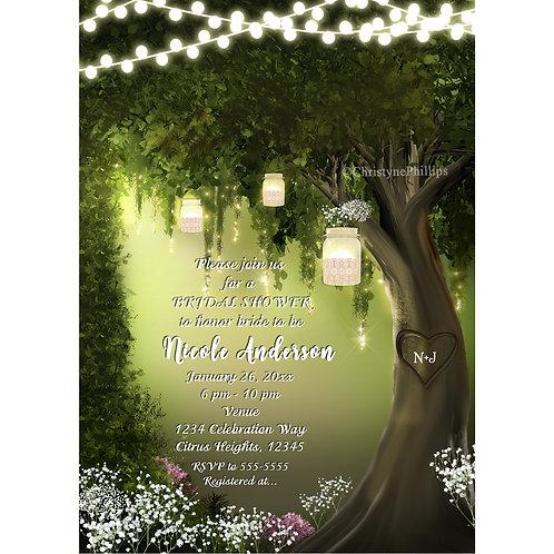 Enchanted Fantasy Forest Bridal Shower Invitations