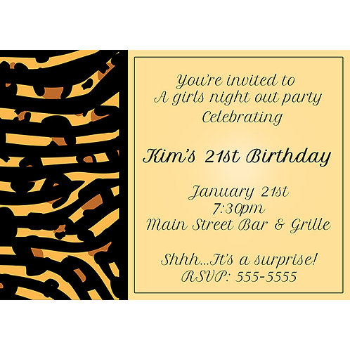 Mixed Animal Print Cheetah Leopard Birthday Party Chic Invitations