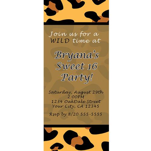 Animal Print Party Themed Invitations – Animal Print Party Invitations