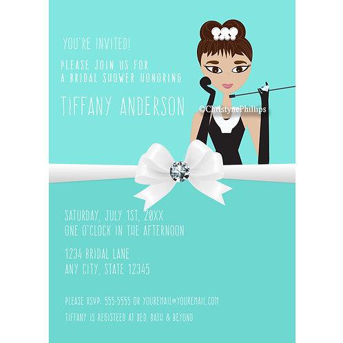 Tiffany's Bridal Shower Version 2 Modern Chic Invitations