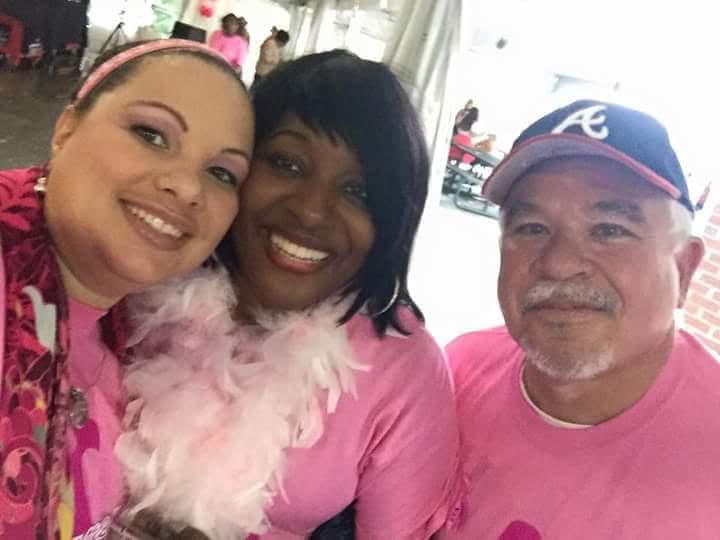 Atlanta Braves Game with Pink Sister