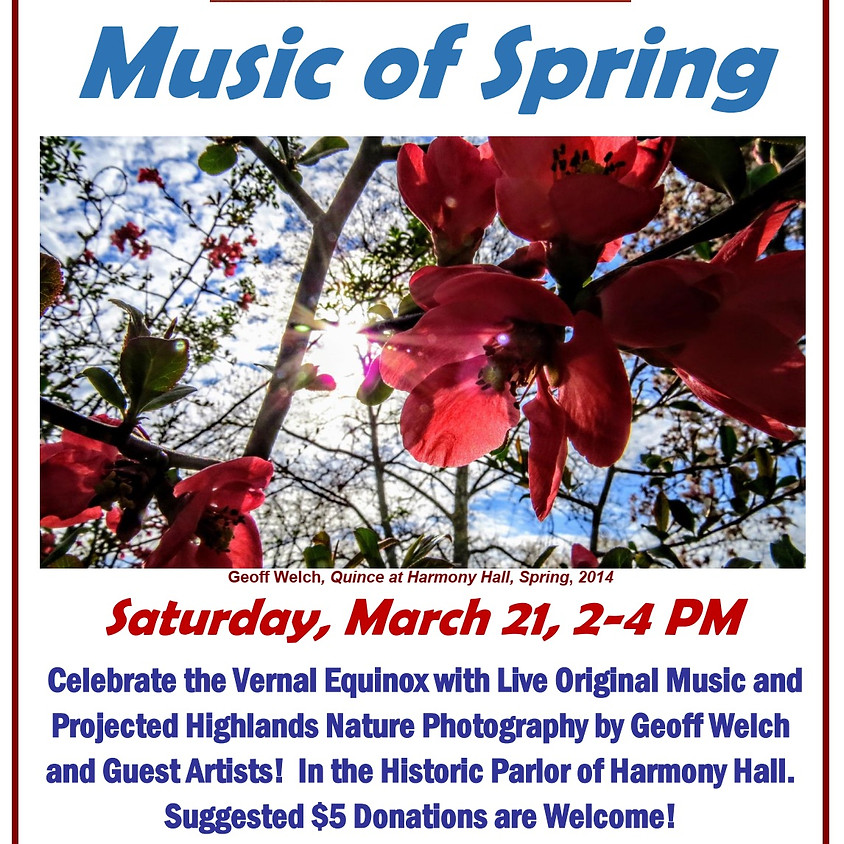 CANCELLED - Vernal Equinox: Music of Spring!