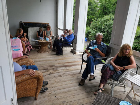 """FoHH 2021 """"Garden Party""""…News from the front porch of Harmony Hall"""