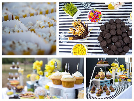 Facy Dessert Bar; Candy Buffet; Color Themed Buffet; Event Color Theme; Event Theme; Party Theme; Wedding Theme