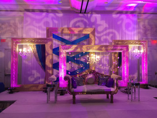 Purple & Damask wedding reception