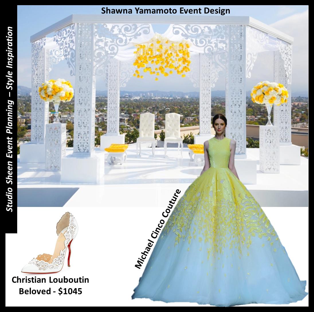 Altarpiece Wedding: Laser Cut Wedding Altar With Yellows & Whites