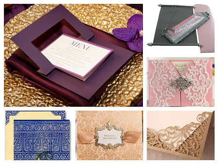 Wedding Invitations; Wedding Stationary; Event Invitations; Event Stationary; Custom Designed Favors; Custom Gift Boxes; Custom Favor Boxes