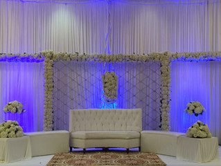 White & Elegant Stage set-up
