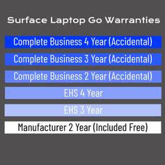 Surface Laptop Go Warranty Options