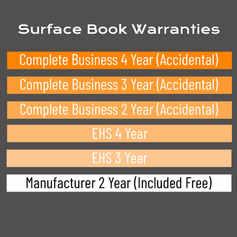 Surface Book Warranty Options
