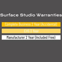 Surface Studio Warranty Options