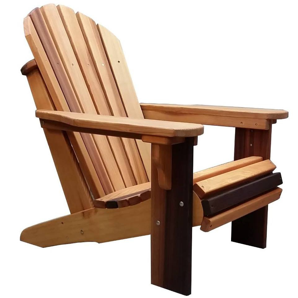 Heavy Duty Sun Lounger, Adirondack Chairs Beautiful Western Red Cedar Wood