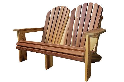 Premium Cedar Wood Adirondack Loveseat