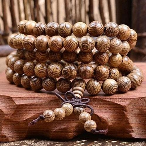 Bracelet 108 perles bois