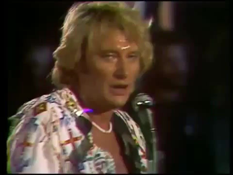 Johnny Hallyday concert Porte avion foch 1979 :Blue suede shoes