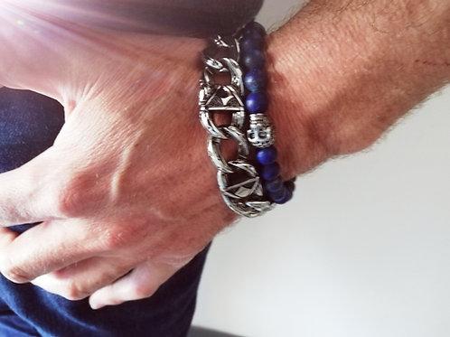 Pack Bracelet Back in LA + Bracelet blue pearl