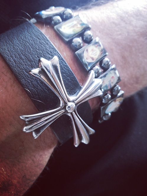 Pack Bracelet cross jh + bracelet saints OFFERT