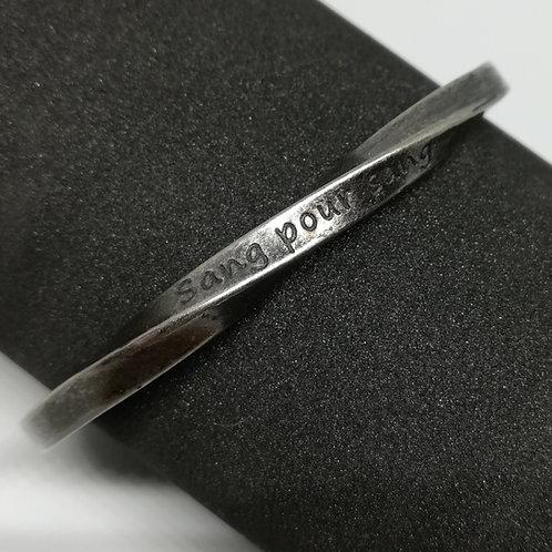 Bracelet Acier message