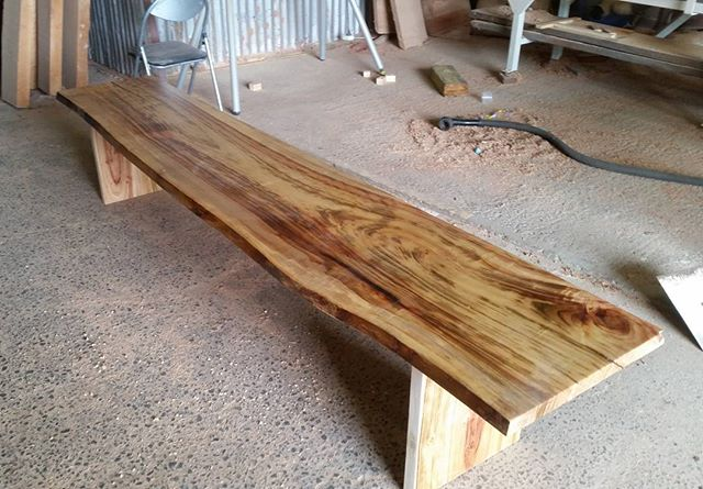 Camphor timber slab bench seat - custom made