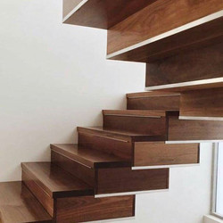 Timber stairs - spotted gum made by Go Natural Timbers