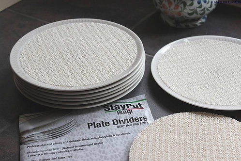 StayPut Plate Dividers - 18.5 x 18.5cm - White