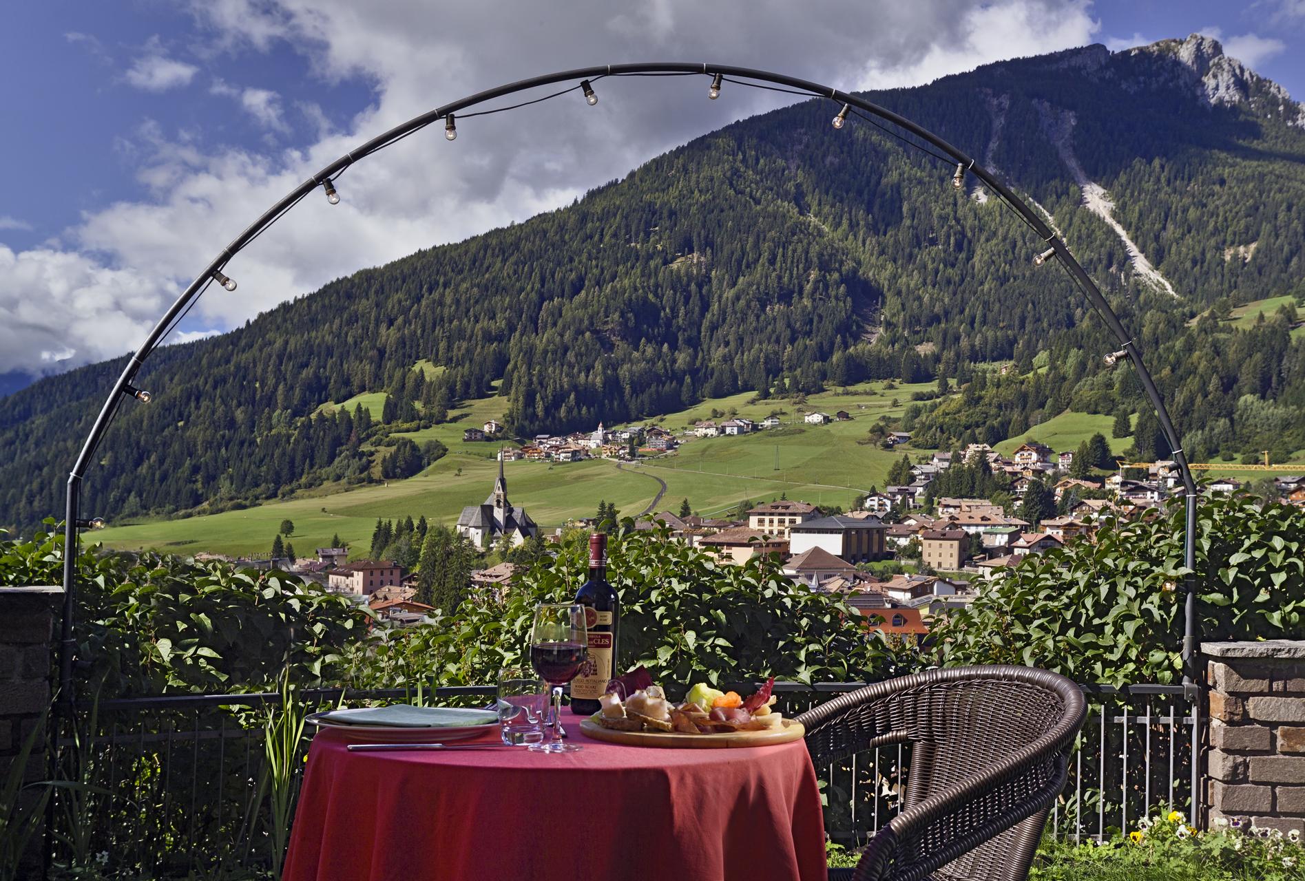 Panorama dall'Hotel Catinaccio Moena