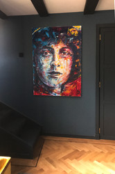Room 4 . Agatha Christie painting in pla