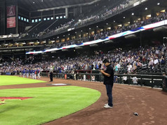 This was such a special moment...this was the 3rd time I've performed the National Anthem for the Arizona Diamondbacks at Chase Field and even more, I got to share this entire experience with my there sons...Santana, Marley and Jackson!