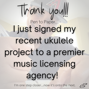 I signed my first ever Music Licensing contract!