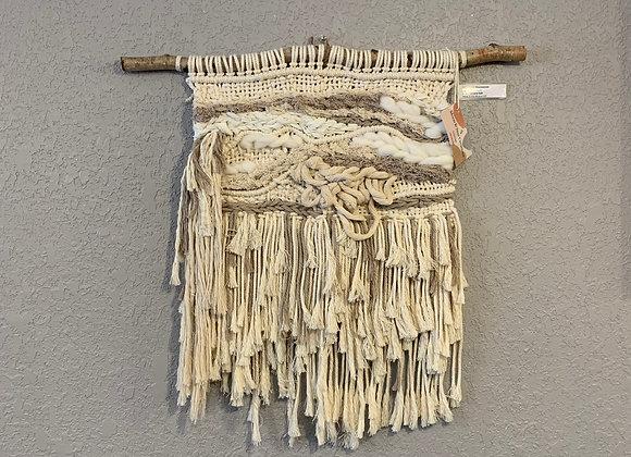 Delayne Saik - Cream Macra-weave piece