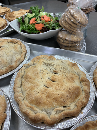 House made Chicken Pot Pies or Tortiere