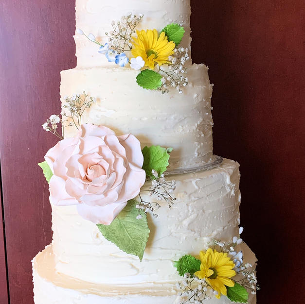Fall 4 tier wedding cake