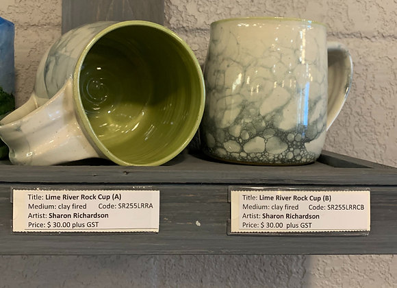 Mudpie Pottery - Lime River Rock Mugs