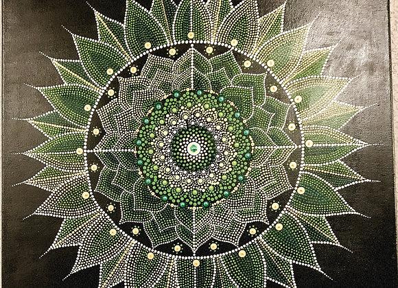 Denise Tournier - Green Dot Mandala