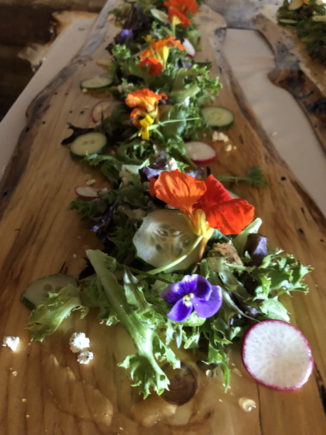 Edible Flowers made it the salad
