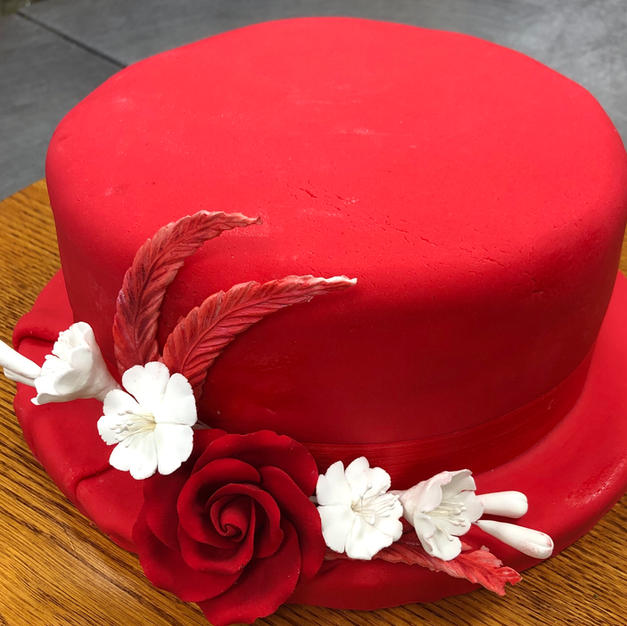 Red Hat Lady Cake