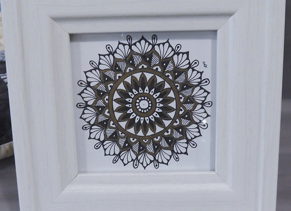 Denise Tournier -  Mandala with Gold Accents
