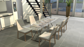 "OceanRAZR Design Dining Table ""Venice"""