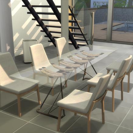 "OceanRAZR Design Dining Table ""Venice"""