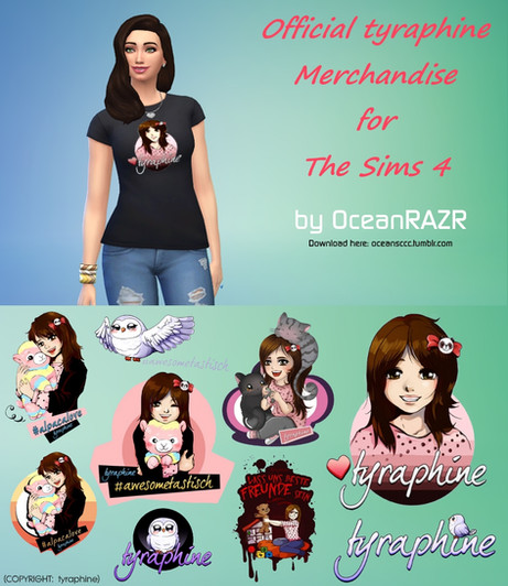 Official tyraphine Merch T-Shirt