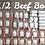 Thumbnail: Grass fed beef  (1/2=300 lbs)