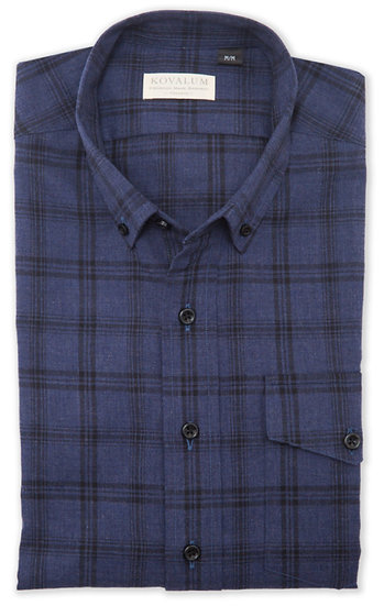 Eastman. Blue with Black Check.
