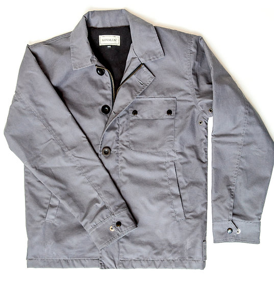 Harrow.  Waxed Cotton Deck Jacket in Grey.